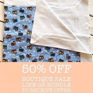 Handmade Snuggle Flannel Receiving Blanket